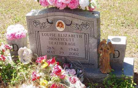 HONEYCUTT DEATHERAGE, LOUISE ELIZABETH - Izard County, Arkansas | LOUISE ELIZABETH HONEYCUTT DEATHERAGE - Arkansas Gravestone Photos