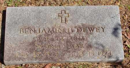 DEWEY  (VETERAN WWI), BENJAMIN H - Izard County, Arkansas | BENJAMIN H DEWEY  (VETERAN WWI) - Arkansas Gravestone Photos