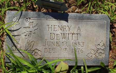 DEWITT, HENRY ALFORD - Izard County, Arkansas | HENRY ALFORD DEWITT - Arkansas Gravestone Photos
