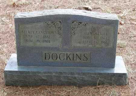 DOCKINS, BECKEY LANGSTON - Izard County, Arkansas | BECKEY LANGSTON DOCKINS - Arkansas Gravestone Photos