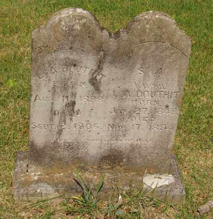 DOUTHIT, L A - Izard County, Arkansas | L A DOUTHIT - Arkansas Gravestone Photos