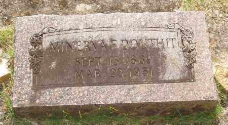 DOUTHIT, MINERVA F - Izard County, Arkansas | MINERVA F DOUTHIT - Arkansas Gravestone Photos