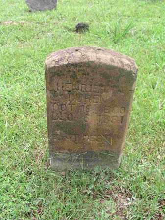 DUREN, HENRIETTA - Izard County, Arkansas | HENRIETTA DUREN - Arkansas Gravestone Photos