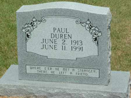 DUREN, PAUL SPURGEON - Izard County, Arkansas | PAUL SPURGEON DUREN - Arkansas Gravestone Photos