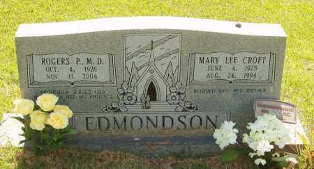 CROFT EDMONDSON, MARY LEE - Izard County, Arkansas | MARY LEE CROFT EDMONDSON - Arkansas Gravestone Photos