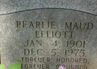 ELLIOTT, PEARLIE MAUD - Izard County, Arkansas | PEARLIE MAUD ELLIOTT - Arkansas Gravestone Photos