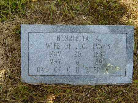 EVANS, HENRIETTA A. - Izard County, Arkansas | HENRIETTA A. EVANS - Arkansas Gravestone Photos