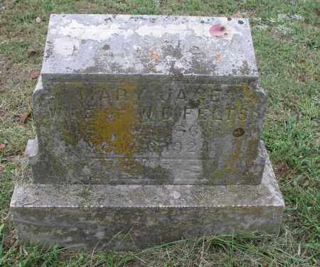 FELTS, MARY JANE - Izard County, Arkansas | MARY JANE FELTS - Arkansas Gravestone Photos