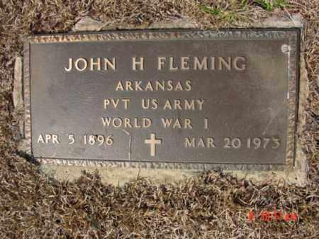 FLEMING  (VETERAN WWI), JOHN HUBERT - Izard County, Arkansas | JOHN HUBERT FLEMING  (VETERAN WWI) - Arkansas Gravestone Photos