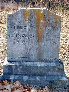 FORREST, WASHINGTON T. & NANCY JANE COOK - Izard County, Arkansas | WASHINGTON T. & NANCY JANE COOK FORREST - Arkansas Gravestone Photos
