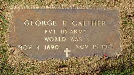 GAITHER  (VETERAN WWI), GEORGE E - Izard County, Arkansas | GEORGE E GAITHER  (VETERAN WWI) - Arkansas Gravestone Photos