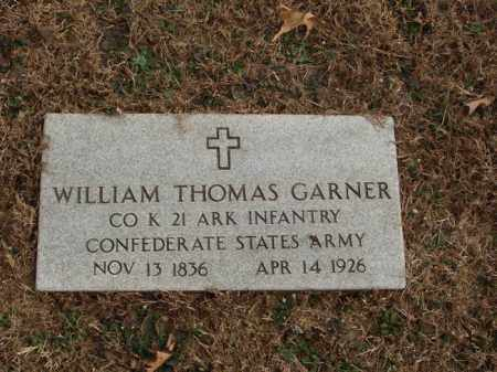 GARNER  (VETERAN CSA), WILLIAM THOMAS - Izard County, Arkansas | WILLIAM THOMAS GARNER  (VETERAN CSA) - Arkansas Gravestone Photos