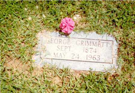 GRIMMETT, GEORGE ANDREW - Izard County, Arkansas | GEORGE ANDREW GRIMMETT - Arkansas Gravestone Photos