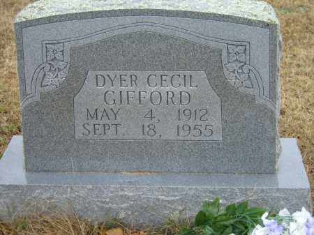 GIFFORD, DYER CECIL - Izard County, Arkansas | DYER CECIL GIFFORD - Arkansas Gravestone Photos