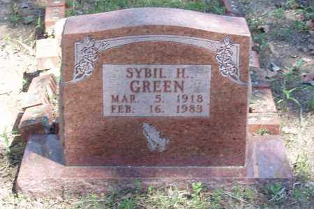 GREEN, SYBIL H - Izard County, Arkansas | SYBIL H GREEN - Arkansas Gravestone Photos