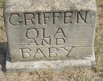 GRIFFIN, OLA AND BABY - Izard County, Arkansas | OLA AND BABY GRIFFIN - Arkansas Gravestone Photos