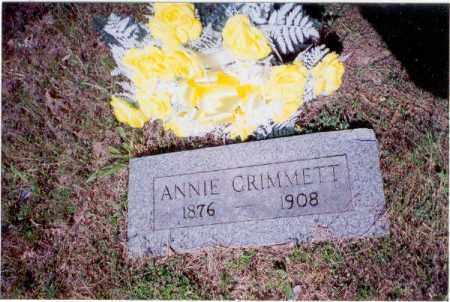 GRIMMETT, ANNIE - Izard County, Arkansas | ANNIE GRIMMETT - Arkansas Gravestone Photos