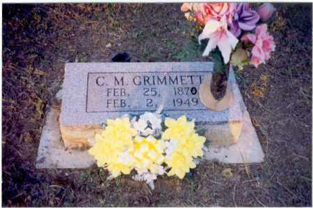 GRIMMETT, CHARLES MONROE - Izard County, Arkansas | CHARLES MONROE GRIMMETT - Arkansas Gravestone Photos
