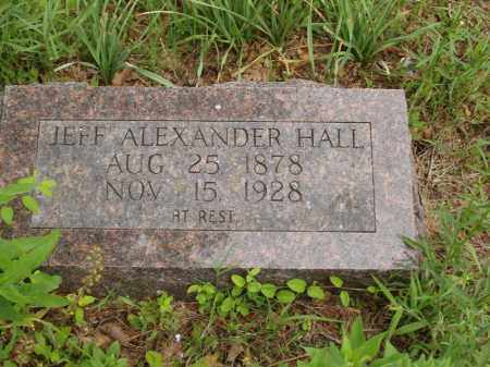 HALL, JEFF ALEXANDER - Izard County, Arkansas | JEFF ALEXANDER HALL - Arkansas Gravestone Photos