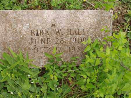 HALL, KIRK WASHINGTON - Izard County, Arkansas | KIRK WASHINGTON HALL - Arkansas Gravestone Photos