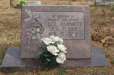 HAMMETT, CECIL - Izard County, Arkansas | CECIL HAMMETT - Arkansas Gravestone Photos
