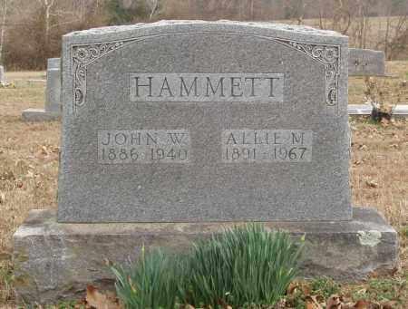HAMMETT, ALLIE M - Izard County, Arkansas | ALLIE M HAMMETT - Arkansas Gravestone Photos