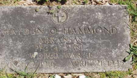 HAMMOND (VETERAN WWII), HAYDEN O - Izard County, Arkansas | HAYDEN O HAMMOND (VETERAN WWII) - Arkansas Gravestone Photos