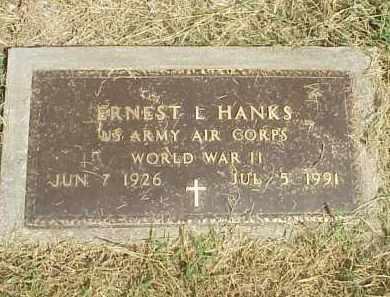 HANKS  (VETERAN WWII), ERNEST L. - Izard County, Arkansas | ERNEST L. HANKS  (VETERAN WWII) - Arkansas Gravestone Photos