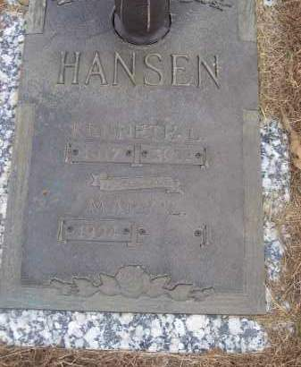 HANSEN, KENNETH L - Izard County, Arkansas | KENNETH L HANSEN - Arkansas Gravestone Photos