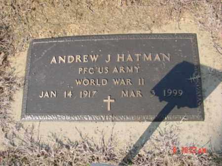 HATMAN  (VETERAN WWII), ANDREW J - Izard County, Arkansas | ANDREW J HATMAN  (VETERAN WWII) - Arkansas Gravestone Photos