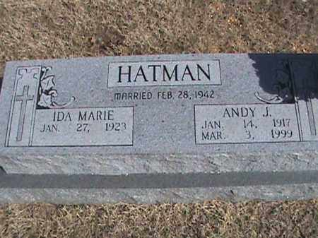 HATMAN, ANDY J. - Izard County, Arkansas | ANDY J. HATMAN - Arkansas Gravestone Photos