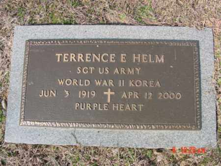 HELM  (VETERAN 2 WARS), TERRENCE E - Izard County, Arkansas | TERRENCE E HELM  (VETERAN 2 WARS) - Arkansas Gravestone Photos
