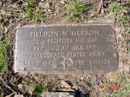 HERRON (VETERAN CSA), FIELDON WASHINGTON - Izard County, Arkansas | FIELDON WASHINGTON HERRON (VETERAN CSA) - Arkansas Gravestone Photos