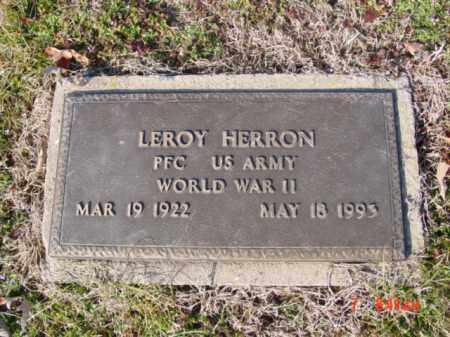 HERRON (VETERAN WWII), LEROY - Izard County, Arkansas | LEROY HERRON (VETERAN WWII) - Arkansas Gravestone Photos