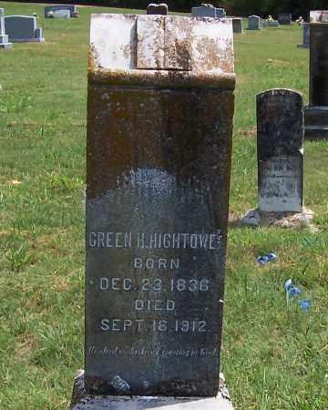 HIGHTOWER, GREEN HILL - Izard County, Arkansas   GREEN HILL HIGHTOWER - Arkansas Gravestone Photos