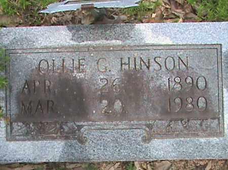 HINSON, OLLIE GUSTAVA - Izard County, Arkansas | OLLIE GUSTAVA HINSON - Arkansas Gravestone Photos