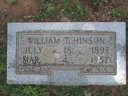 HINSON, WILLIAM T. - Izard County, Arkansas | WILLIAM T. HINSON - Arkansas Gravestone Photos