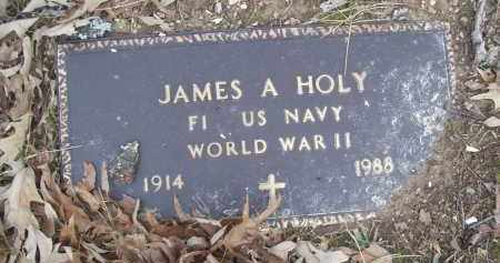 HOLY (VETERAN WWII), JAMES A - Izard County, Arkansas | JAMES A HOLY (VETERAN WWII) - Arkansas Gravestone Photos