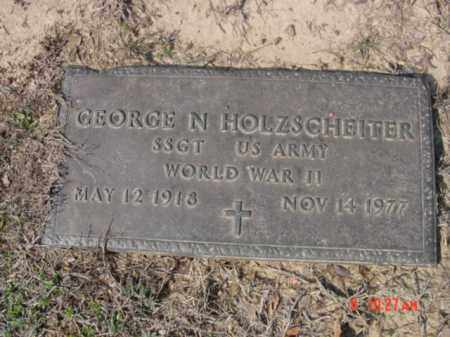 HOLZSCHEITER  (VETERAN WWII), GEORGE N - Izard County, Arkansas | GEORGE N HOLZSCHEITER  (VETERAN WWII) - Arkansas Gravestone Photos