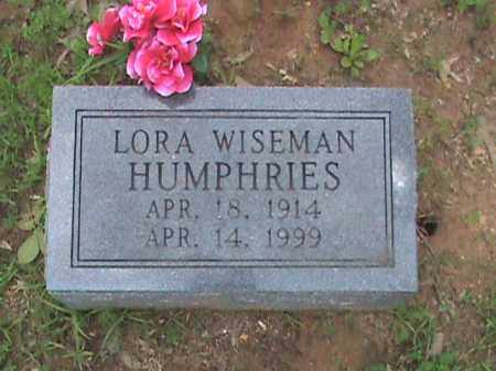 WISEMAN HUMPHRIES, LORA - Izard County, Arkansas | LORA WISEMAN HUMPHRIES - Arkansas Gravestone Photos