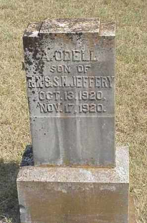 JEFFERY, A. ODELL - Izard County, Arkansas | A. ODELL JEFFERY - Arkansas Gravestone Photos