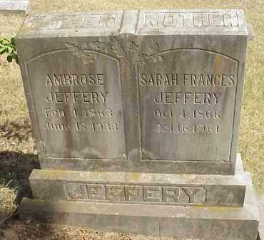 JEFFERY, AMBROSE - Izard County, Arkansas | AMBROSE JEFFERY - Arkansas Gravestone Photos