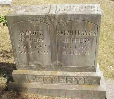 "JEFFERY, SARAH FRANCES ""FANNIE"" - Izard County, Arkansas 