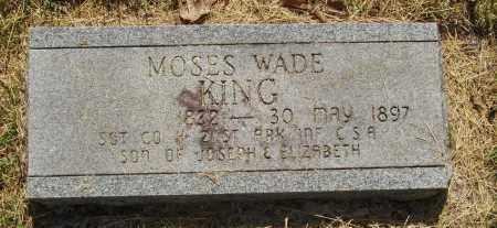KING  (VETERAN CSA), MOSES WADE - Izard County, Arkansas | MOSES WADE KING  (VETERAN CSA) - Arkansas Gravestone Photos