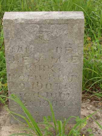 KIRK, INFANT DAUGHTER - Izard County, Arkansas | INFANT DAUGHTER KIRK - Arkansas Gravestone Photos
