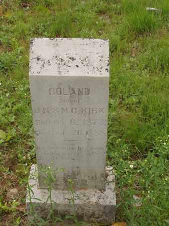 KIRK, ROLAND G - Izard County, Arkansas | ROLAND G KIRK - Arkansas Gravestone Photos