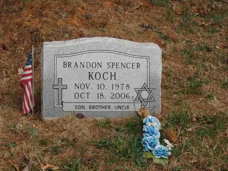 KOCH, BRANDON SPENCER - Izard County, Arkansas | BRANDON SPENCER KOCH - Arkansas Gravestone Photos