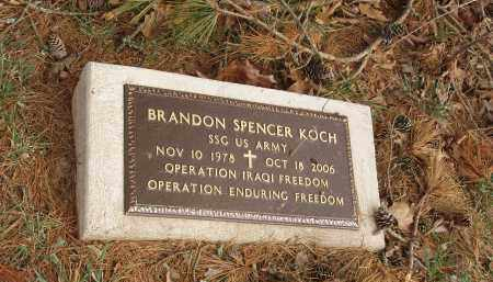 KOCH   (VETERAN IRAQ), BRANDON SPENCER - Izard County, Arkansas | BRANDON SPENCER KOCH   (VETERAN IRAQ) - Arkansas Gravestone Photos