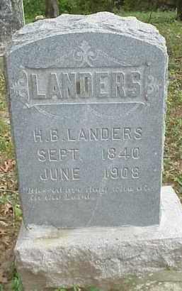 LANDERS  (VETERAN CSA), HARVEY BAXTER - Izard County, Arkansas | HARVEY BAXTER LANDERS  (VETERAN CSA) - Arkansas Gravestone Photos