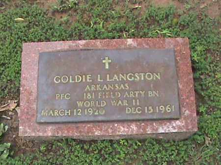 LANGSTON  (VETERAN WWII), GOLDIE LEE - Izard County, Arkansas | GOLDIE LEE LANGSTON  (VETERAN WWII) - Arkansas Gravestone Photos